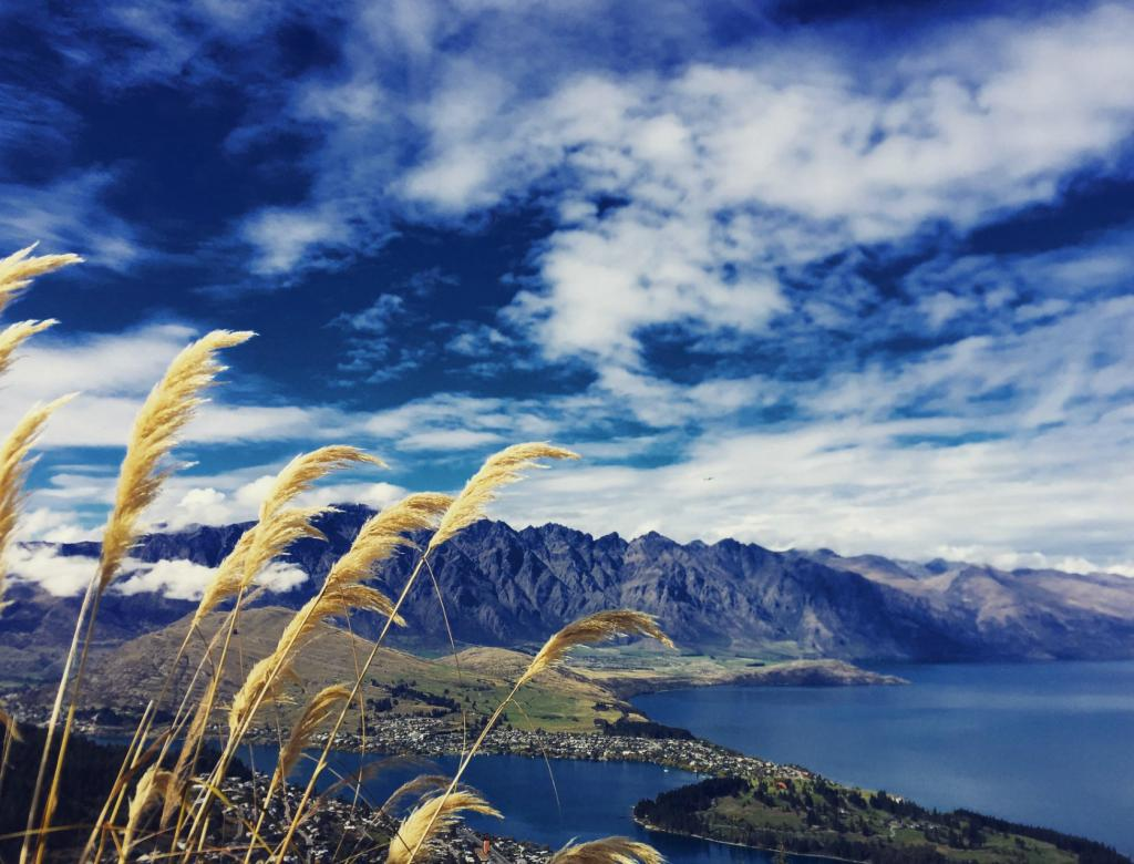 Looking over the lake in New Zealand