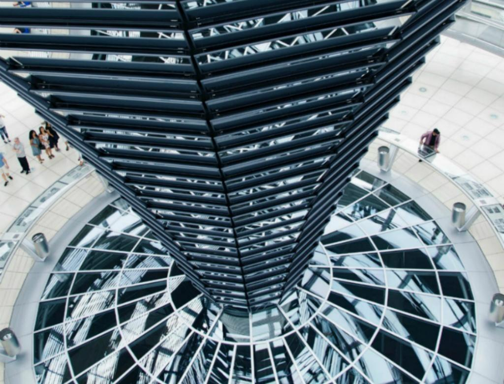 View of a famous building in Reichstag, Germany.