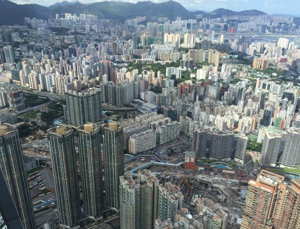View of the landscape of Hong Kong.