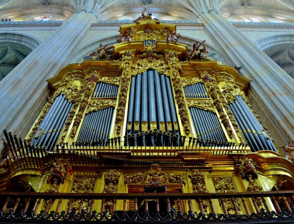 Beautiful organ inside one of Spain's largest churches.