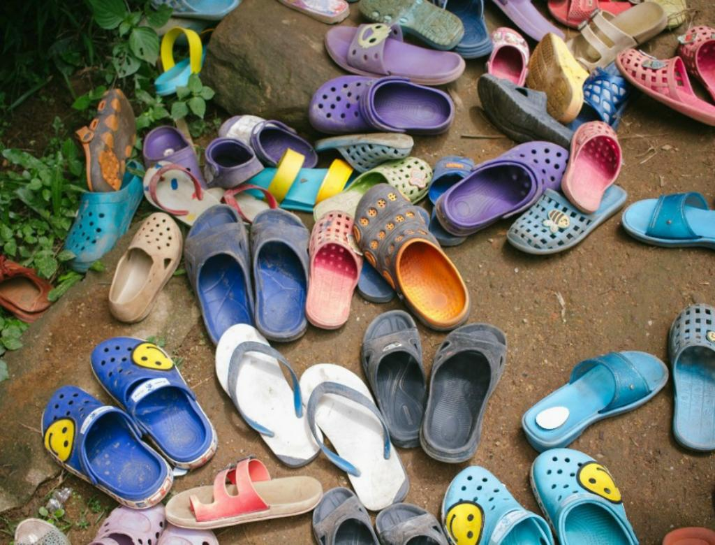 Shoes from a school in Thailand.