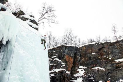 Ice climbing in Sweden