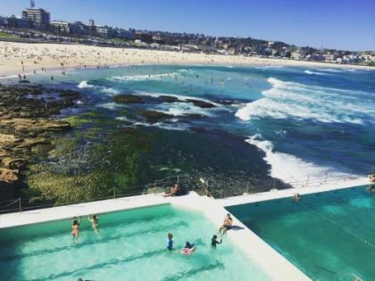 Blue waters of Bondi Beach
