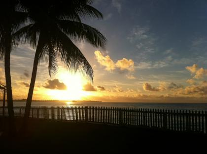Sunrise coming up in Barbados
