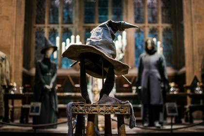 The sorting hat that was used in the Harry Potter movies.