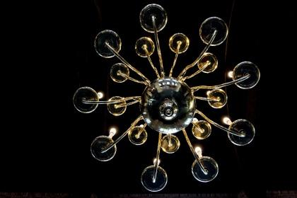 Chandelier at a church in Delft.