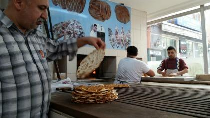 Local lahmacun shop in Turkey.