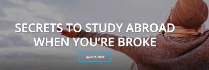 Study Abroad while broke