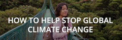 How to help stop global climate change